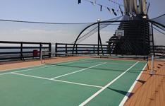 Лайнер MSC Orchestra, тенисный корт