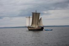 Парусник Святитель Николай в Онежском озере
