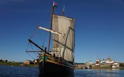 Парусник Святитель Николай возле Кижского архипелага